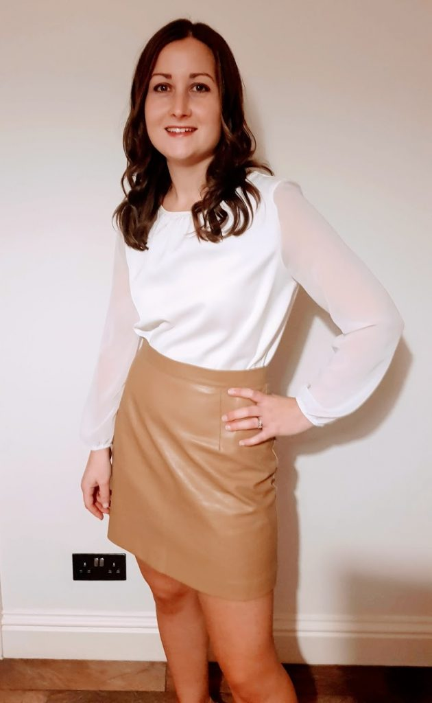 Lost Ink faux leather skirt